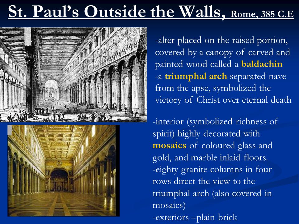 St. Paul's Outside the Walls, Rome, 385 C.E