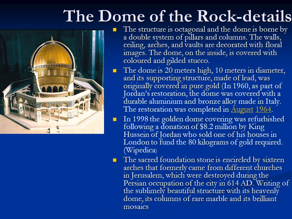 The Dome of the Rock-details