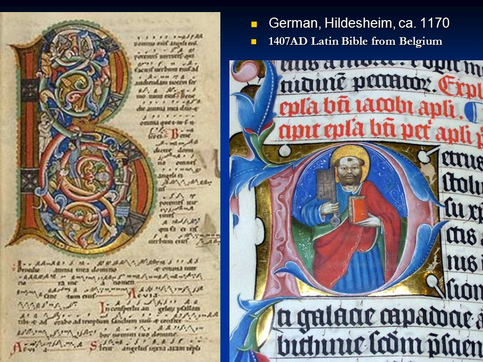 German, Hildesheim, ca. 1170 1407AD Latin Bible from Belgium
