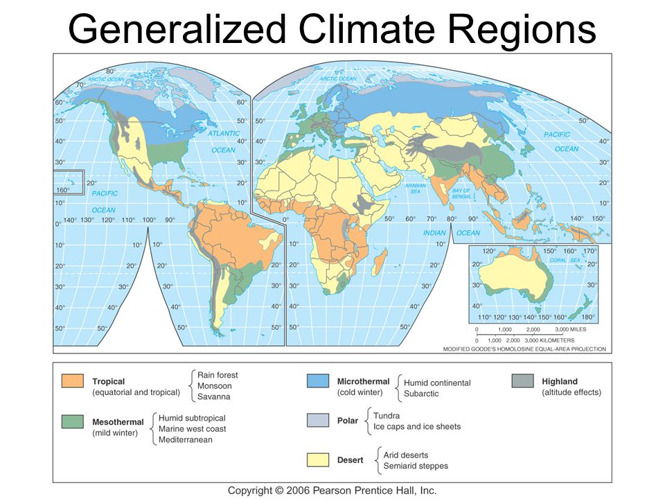 Generalized Climate Regions