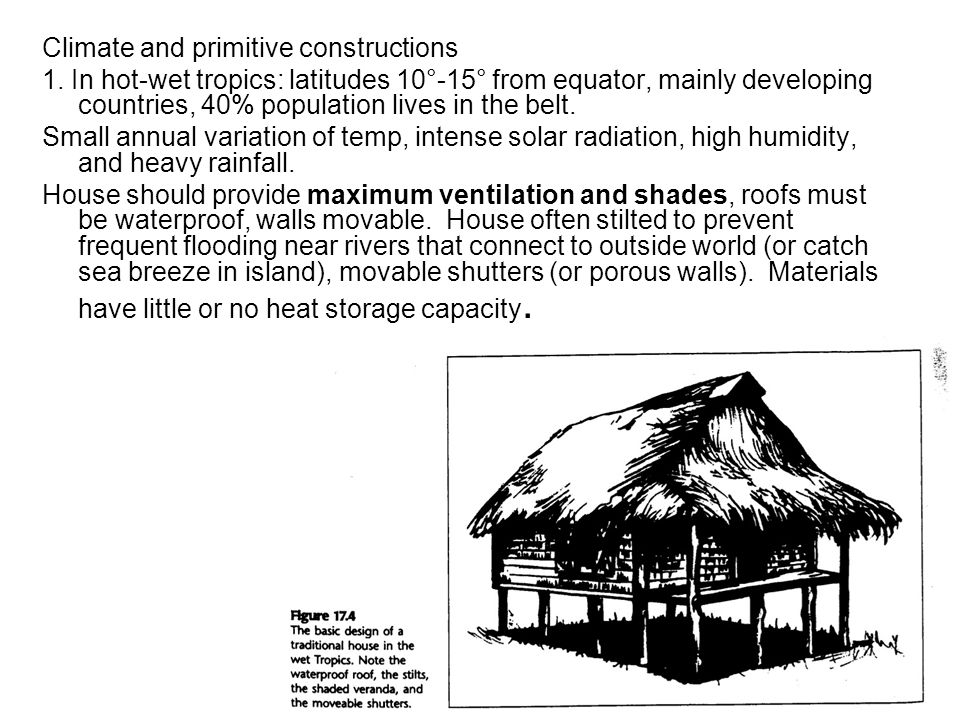 Climate and primitive constructions