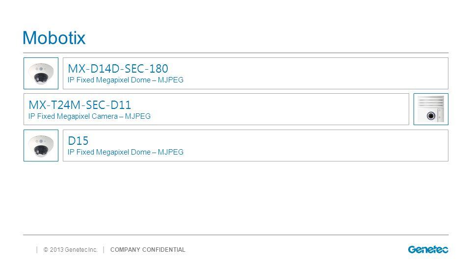 Mobotix MX-D14D-SEC-180 MX-T24M-SEC-D11 D15