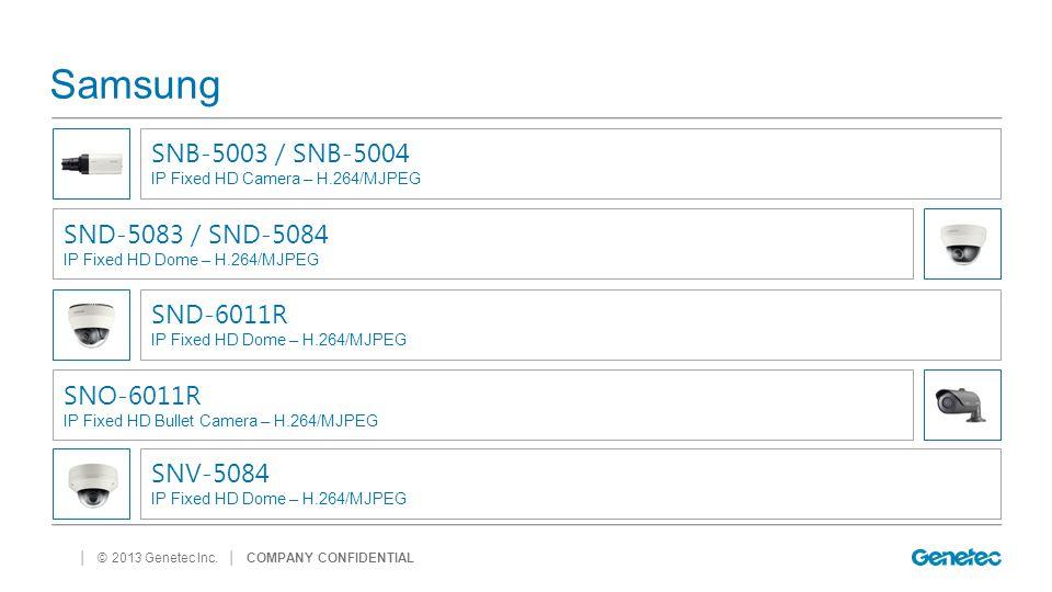 Samsung SNB-5003 / SNB-5004 SND-5083 / SND-5084 SND-6011R SNO-6011R
