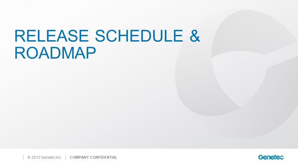 Release schedule & Roadmap