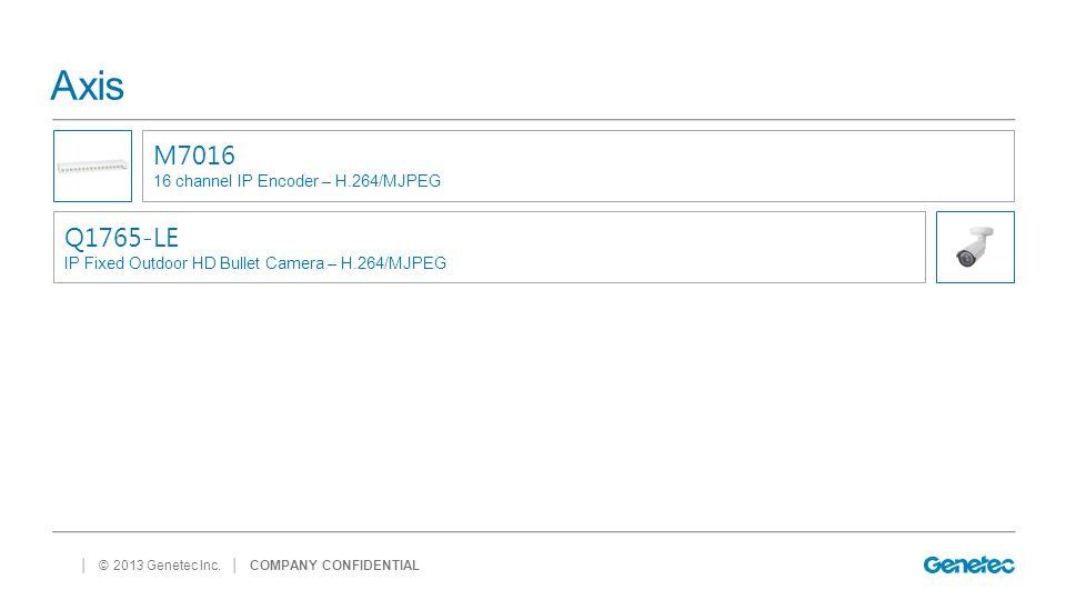 Axis M7016 Q1765-LE 16 channel IP Encoder – H.264/MJPEG