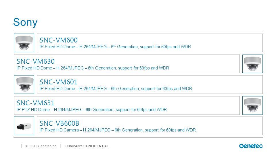 Sony SNC-VM600 SNC-VM630 SNC-VM601 SNC-VM631 SNC-VB600B