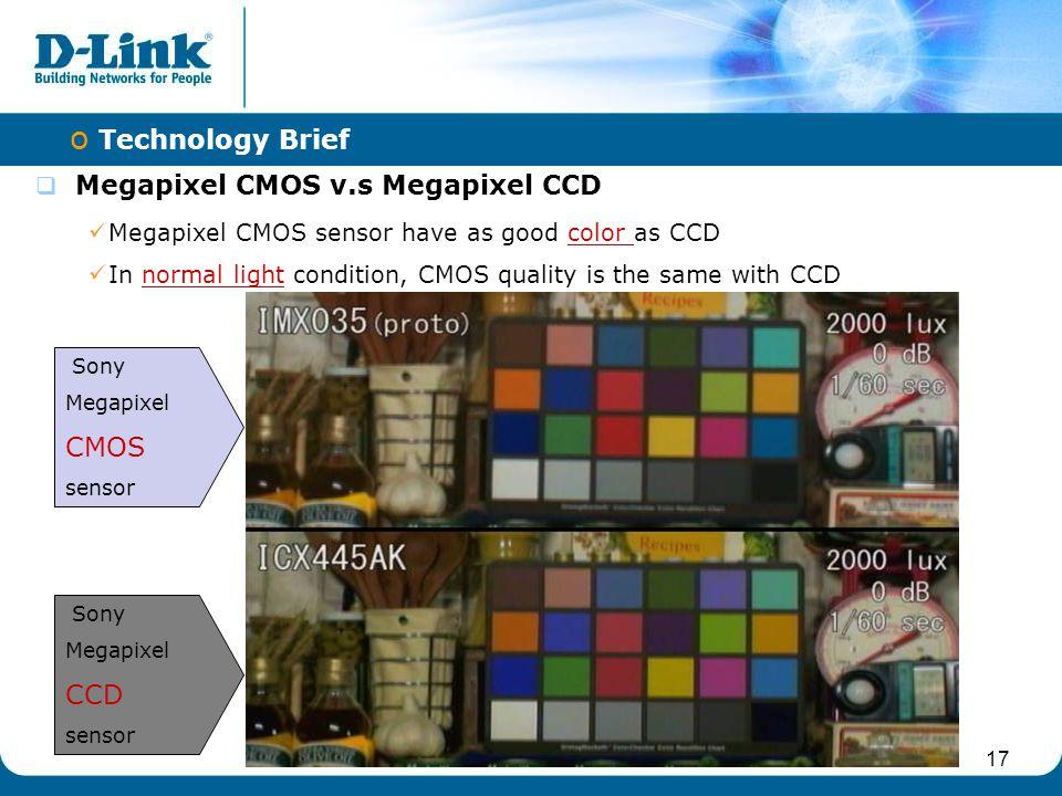 Megapixel CMOS v.s Megapixel CCD
