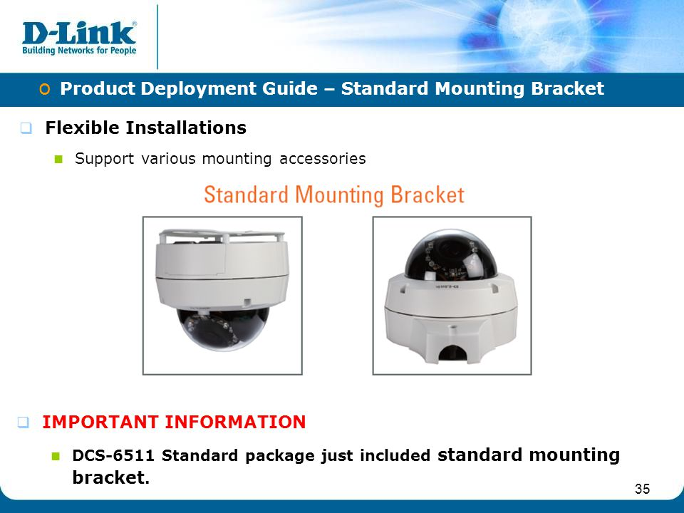 Product Deployment Guide – Standard Mounting Bracket
