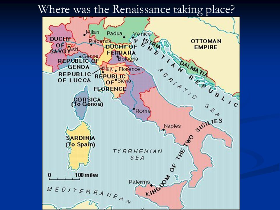 Where was the Renaissance taking place