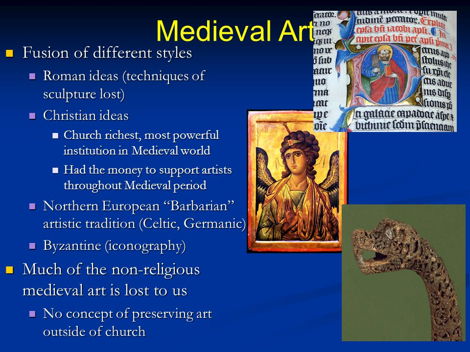 Medieval Art Fusion of different styles