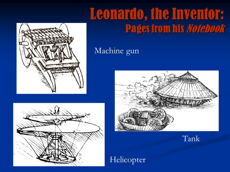 Leonardo, the Inventor: Pages from his Notebook