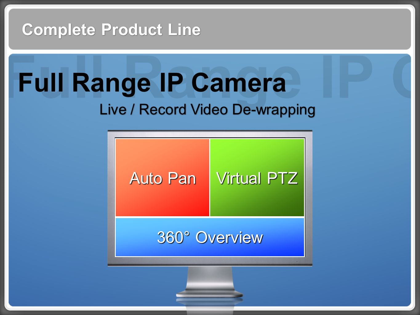 Full Range IP Cam Full Range IP Camera Complete Product Line Auto Pan