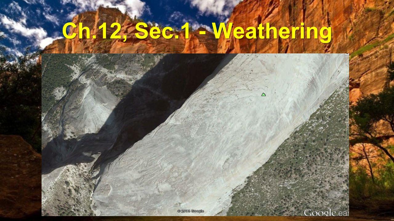 Ch.12, Sec.1 - Weathering