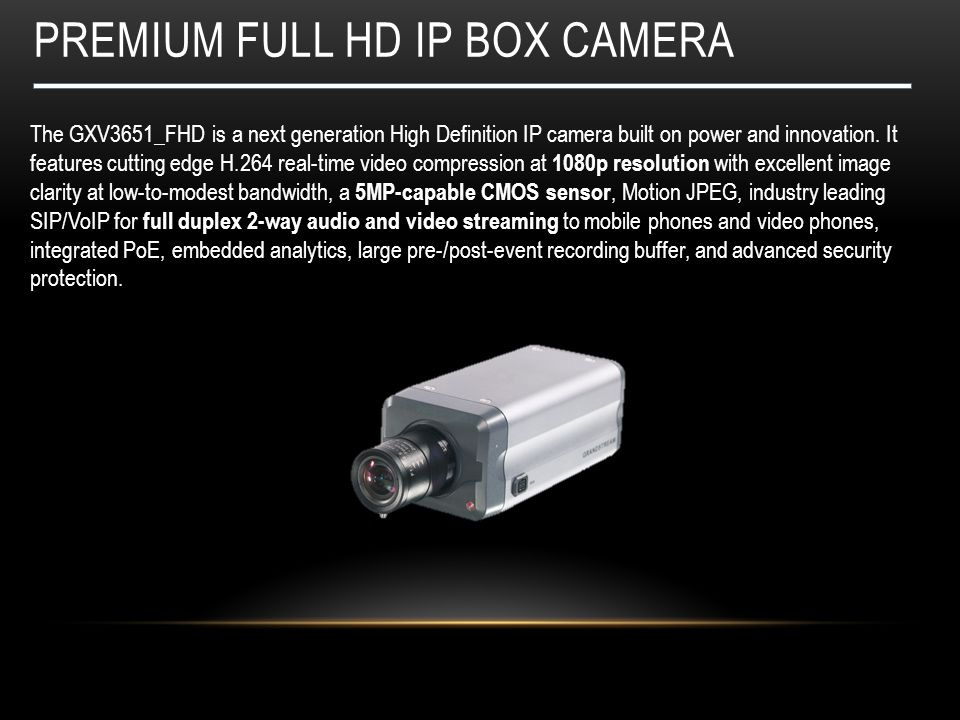Premium full hd ip box camera