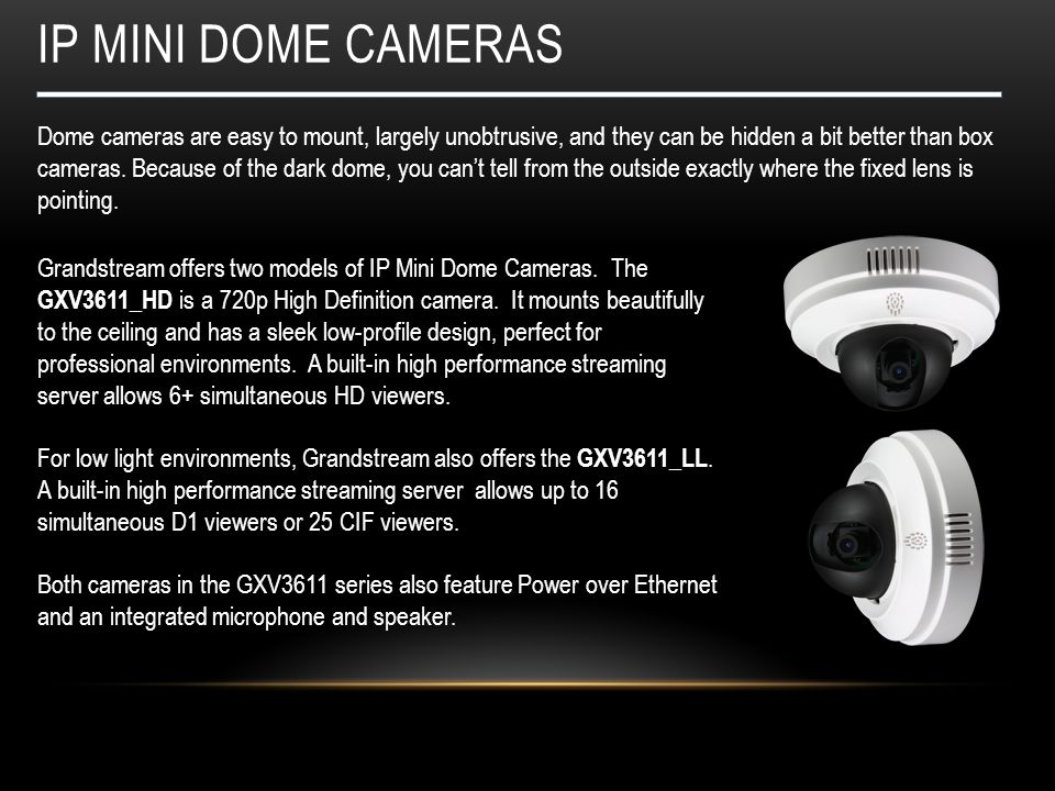 IP Mini dome CAMERAS
