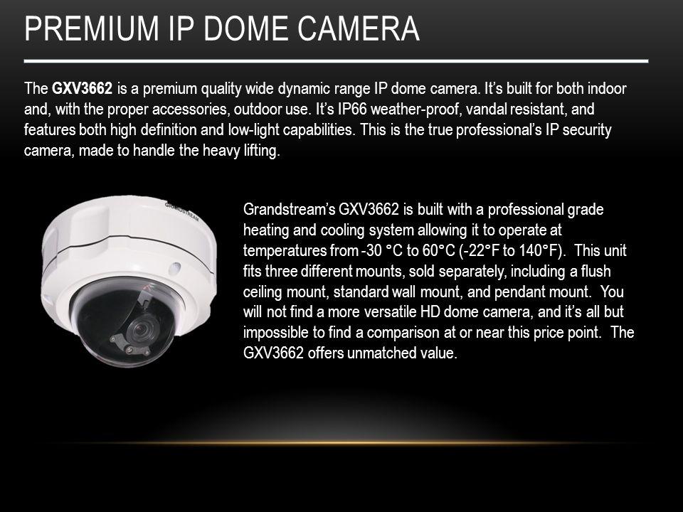 Premium IP dome CAMERA