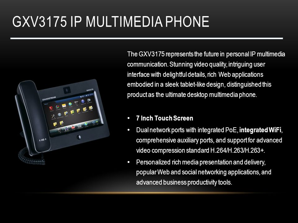 Gxv3175 ip multimedia phone