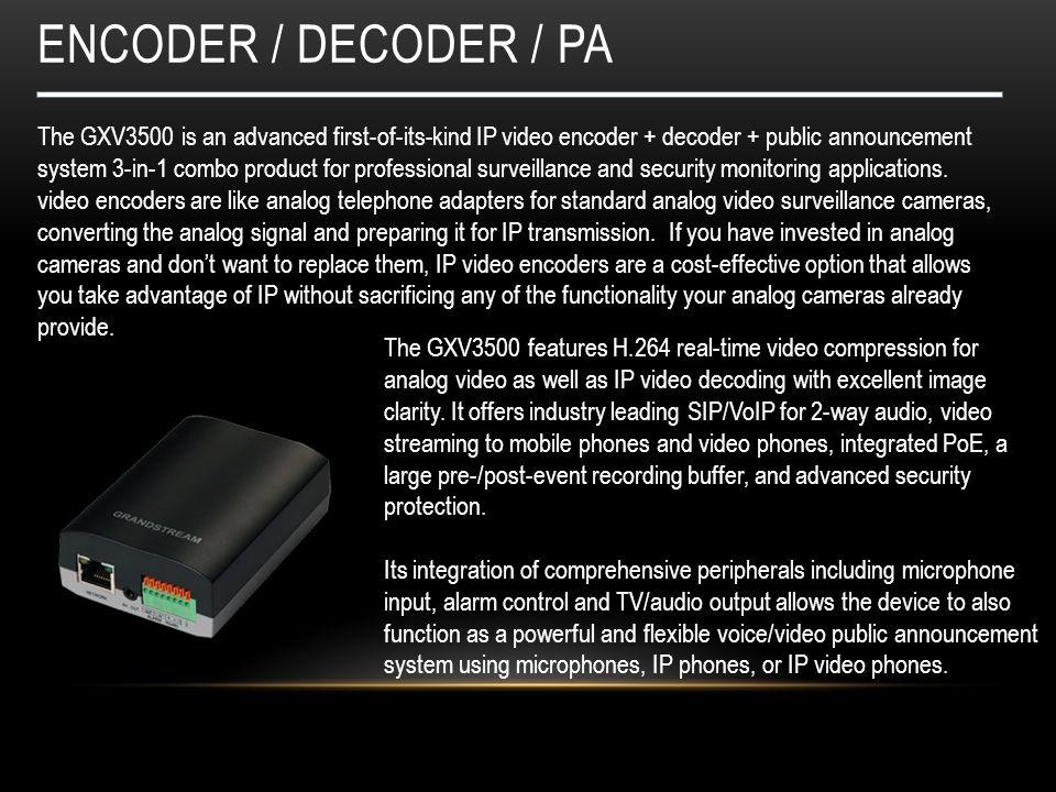 encoder / decoder / PA