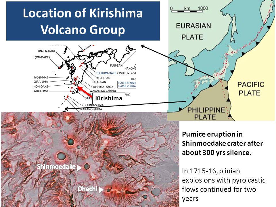 Location of Kirishima Volcano Group
