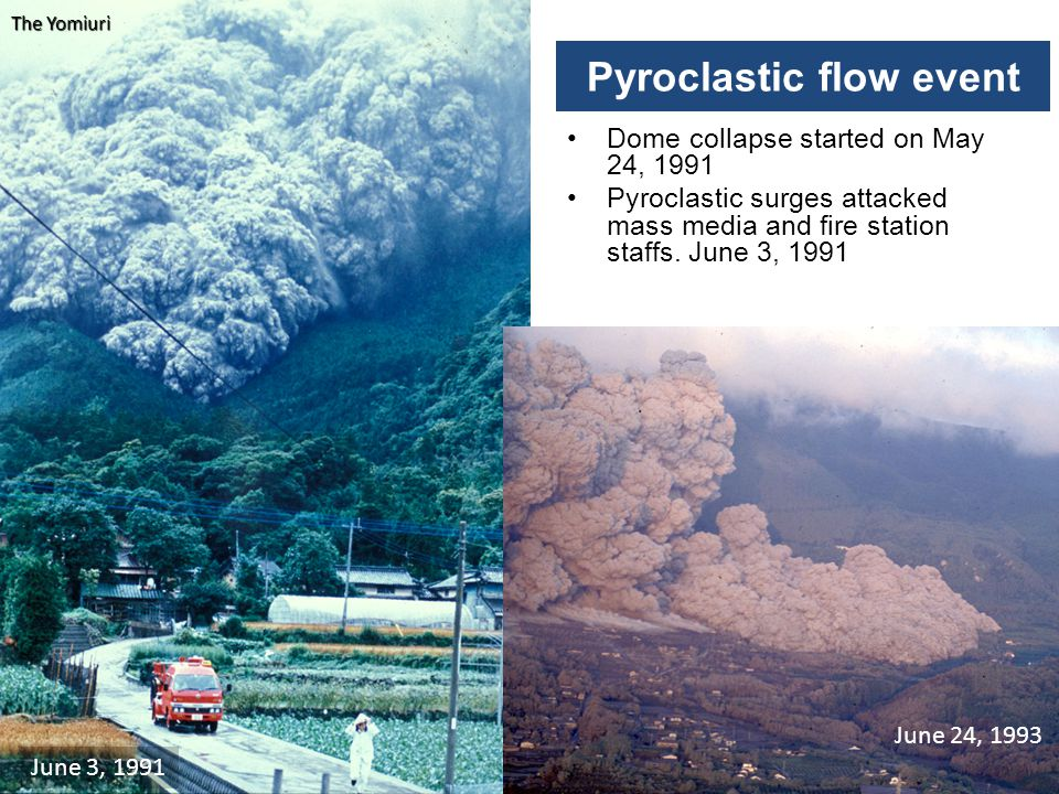Pyroclastic flow event