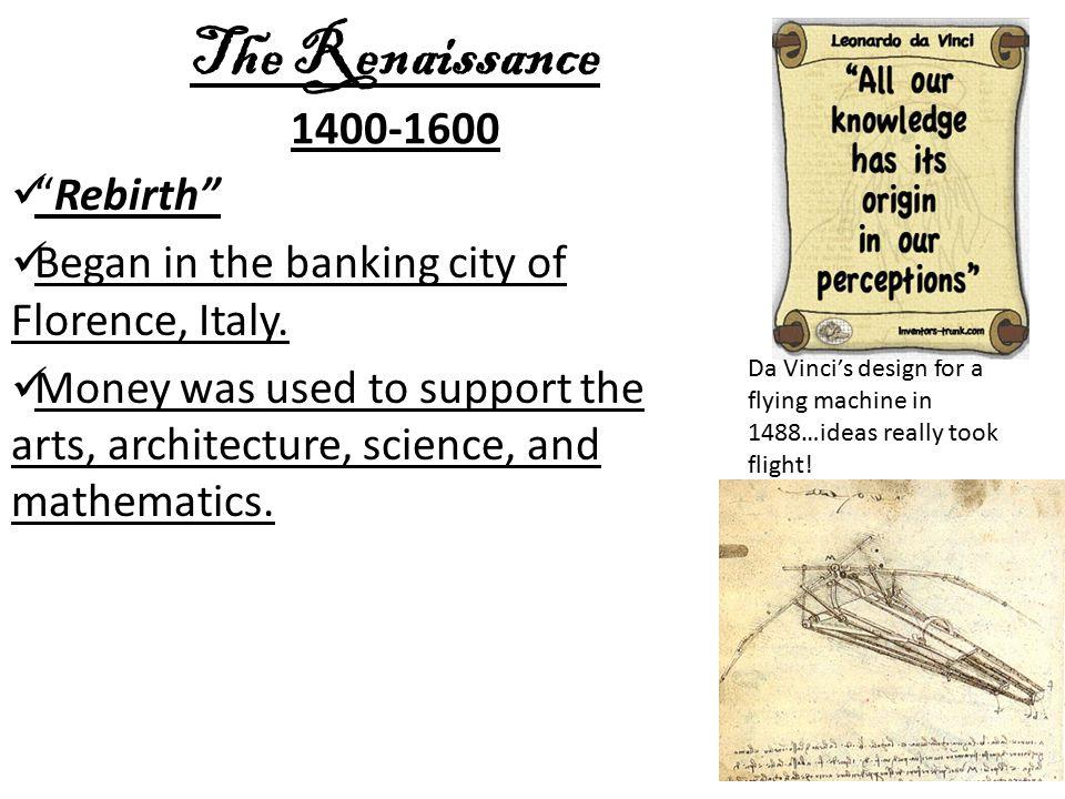 The Renaissance 1400-1600 Rebirth
