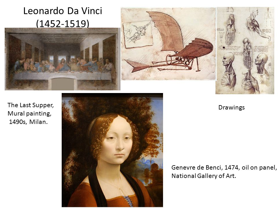 Leonardo Da Vinci (1452-1519) The Last Supper, Drawings