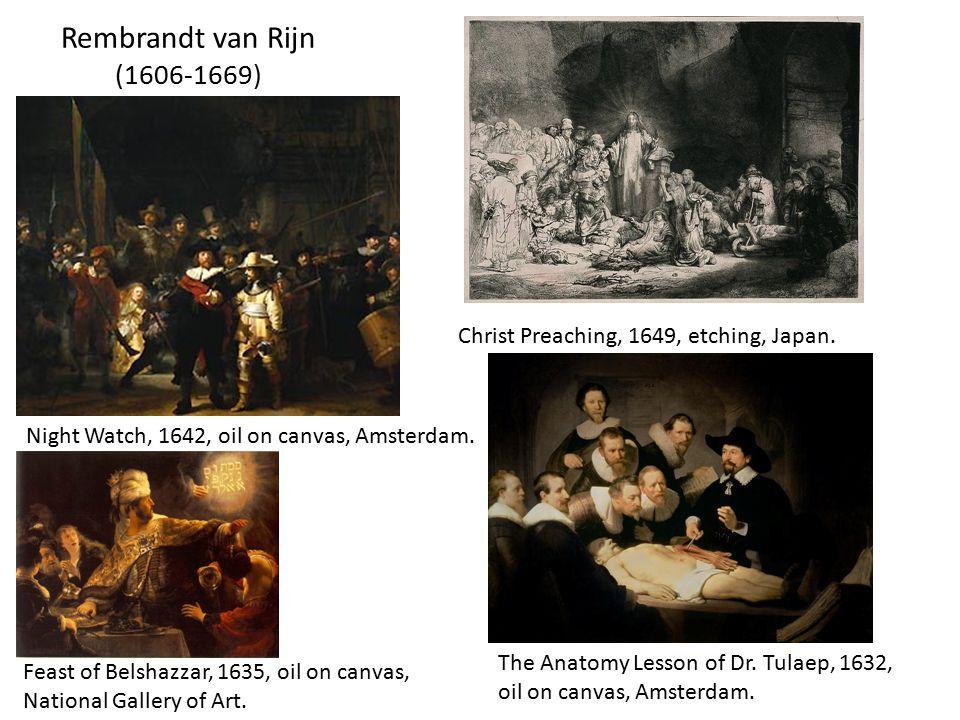 Rembrandt van Rijn (1606-1669) Christ Preaching, 1649, etching, Japan.