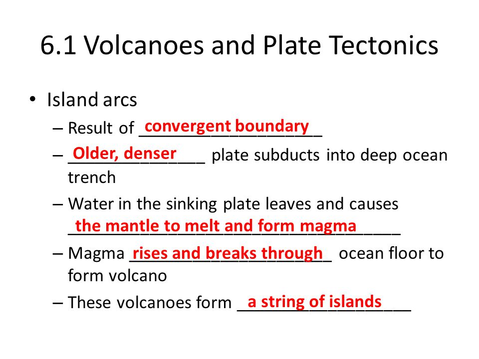 6.1 Volcanoes and Plate Tectonics