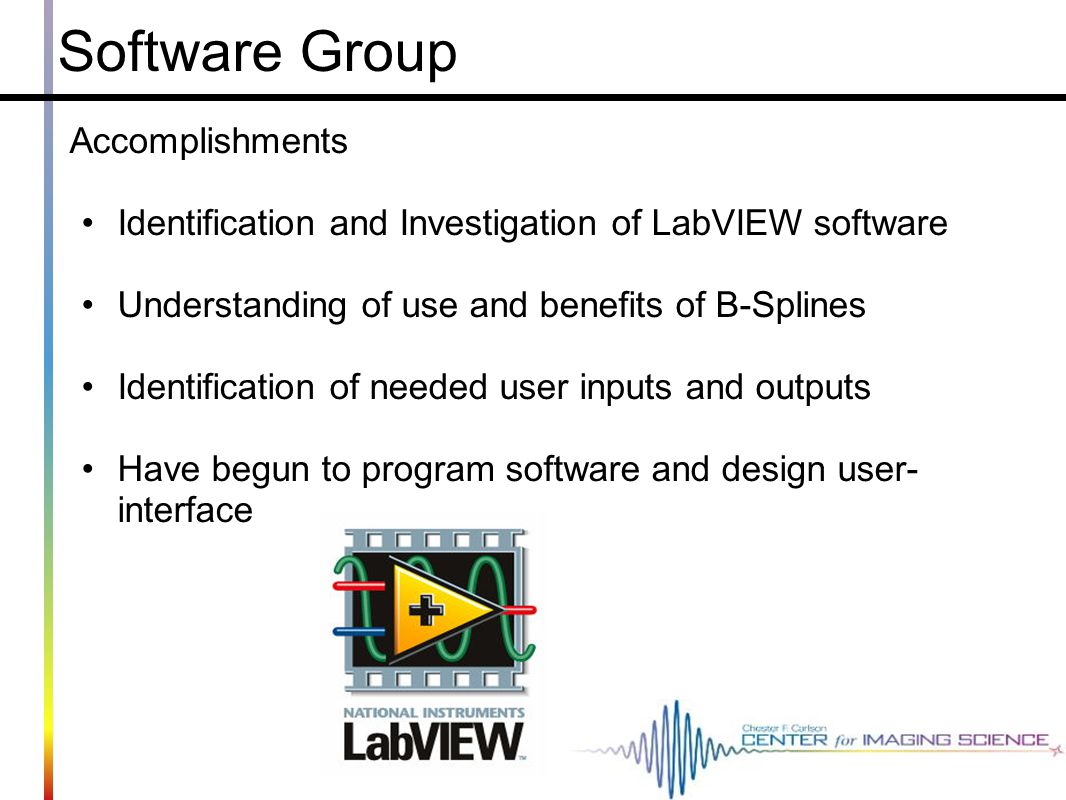 Software Group Accomplishments