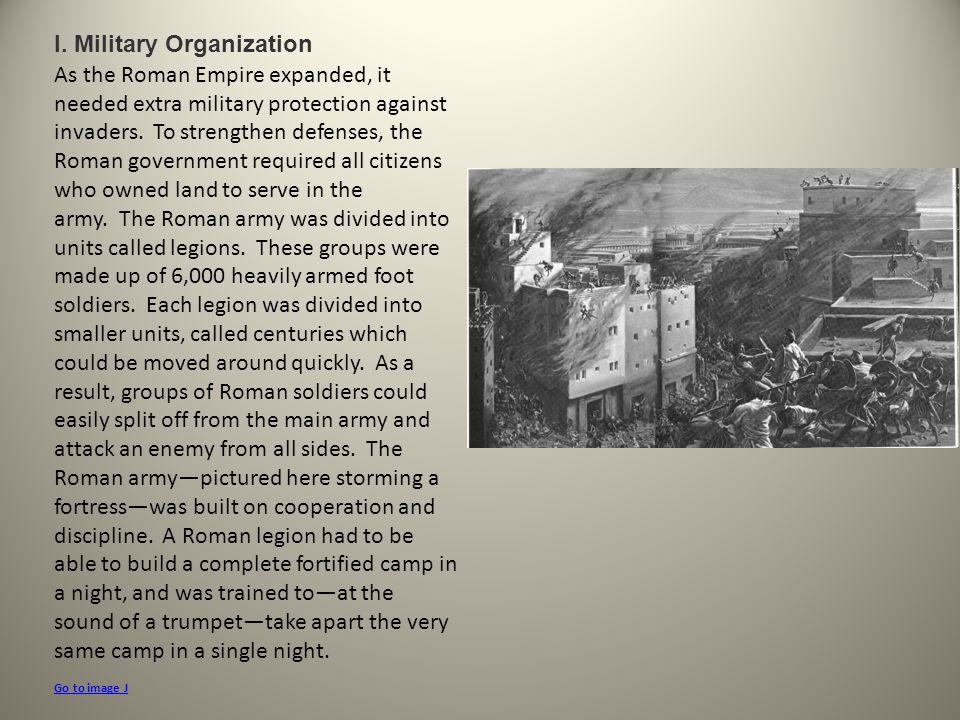 I. Military Organization