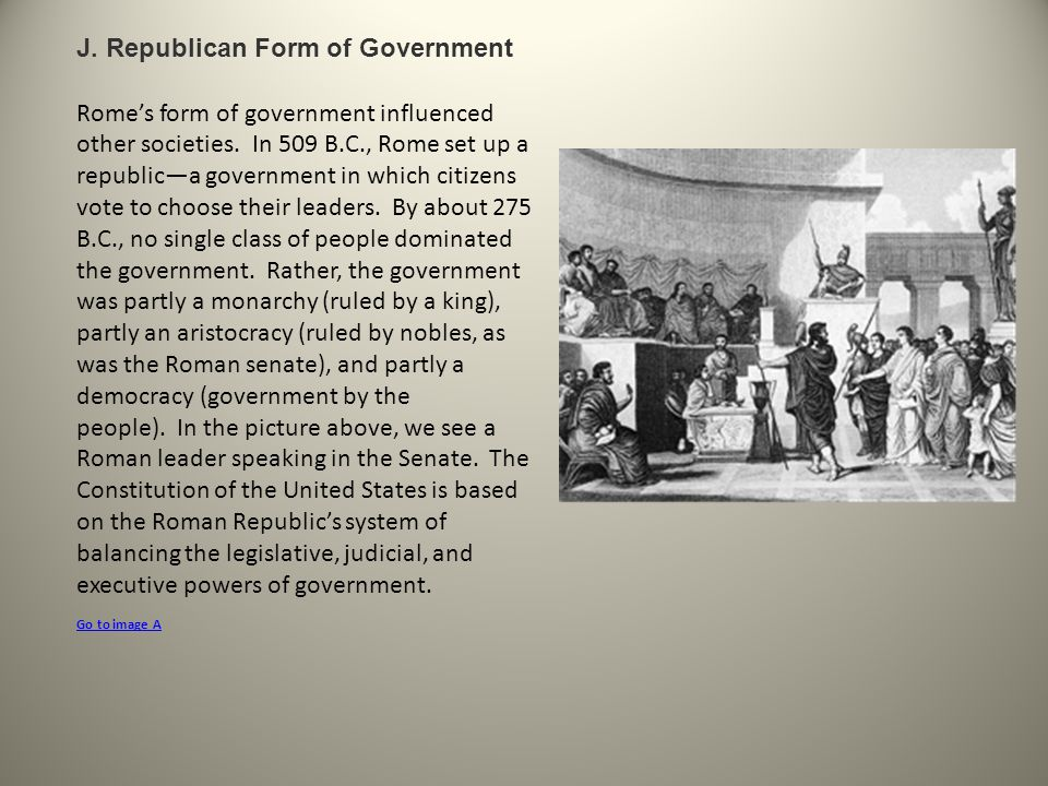J. Republican Form of Government