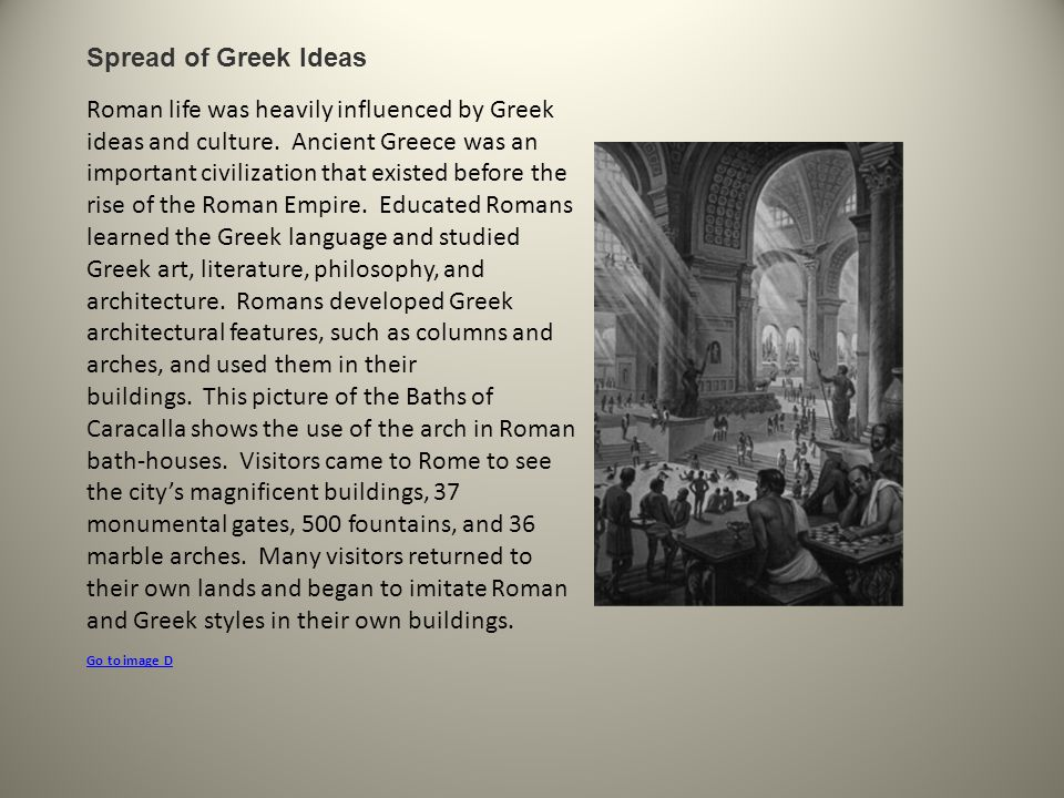 Spread of Greek Ideas.