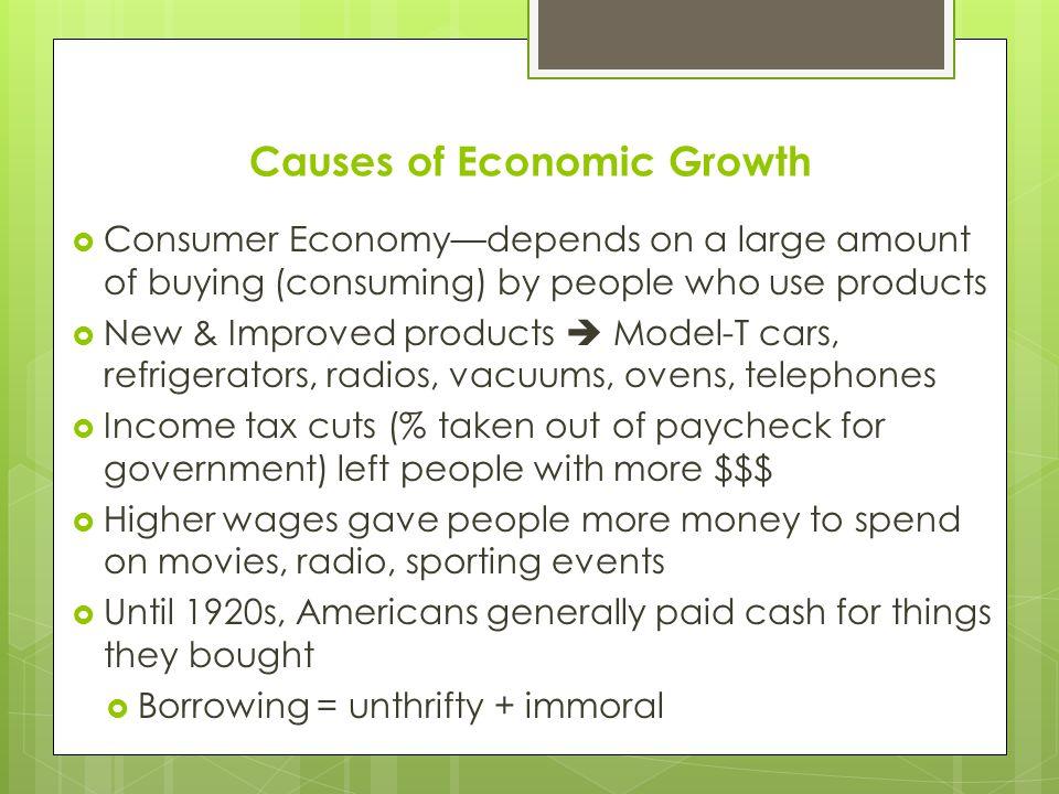 Causes of Economic Growth