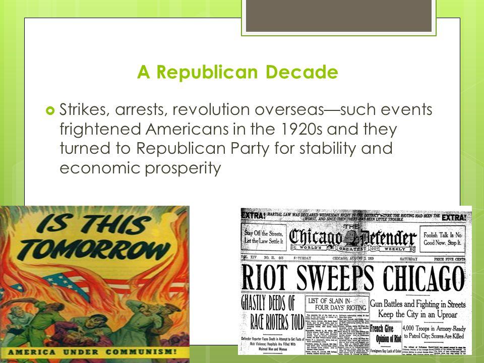 A Republican Decade