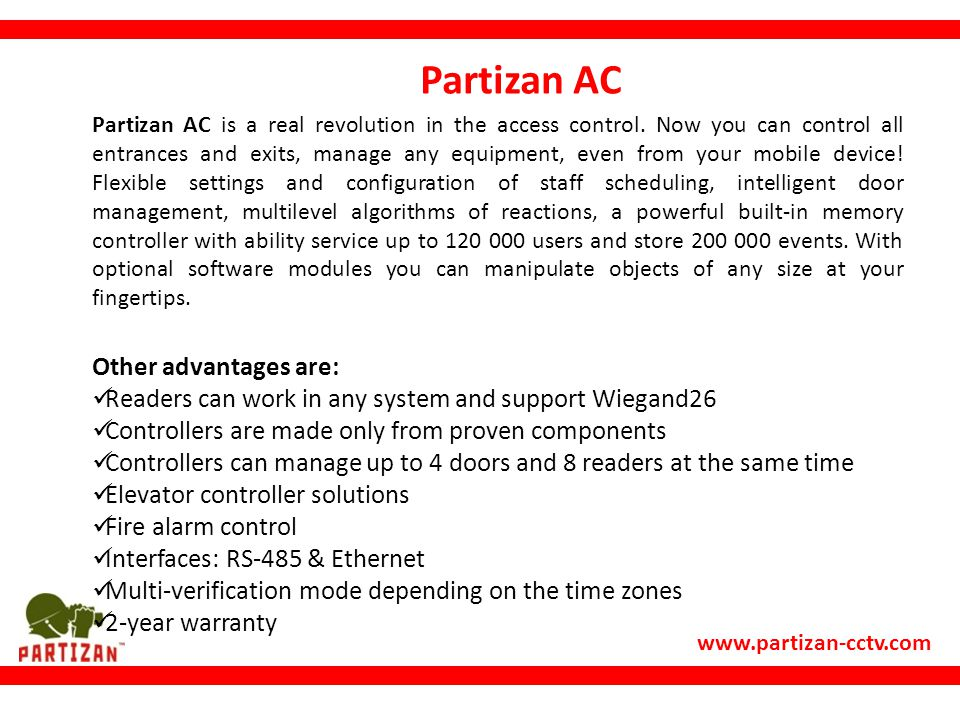 Partizan AC Other advantages are: