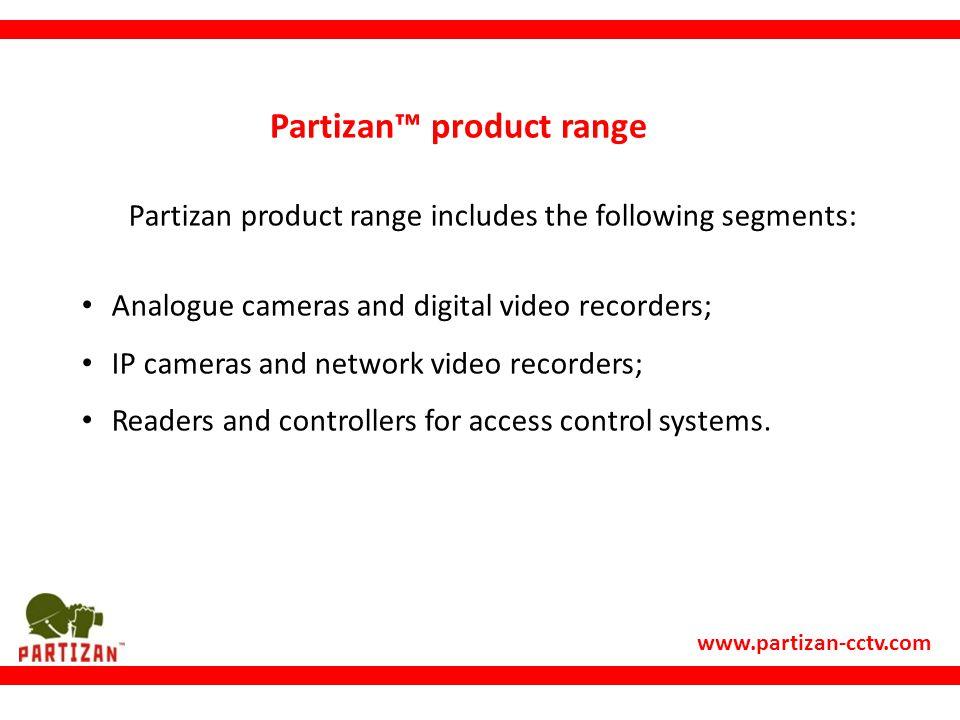Partizan™ product range