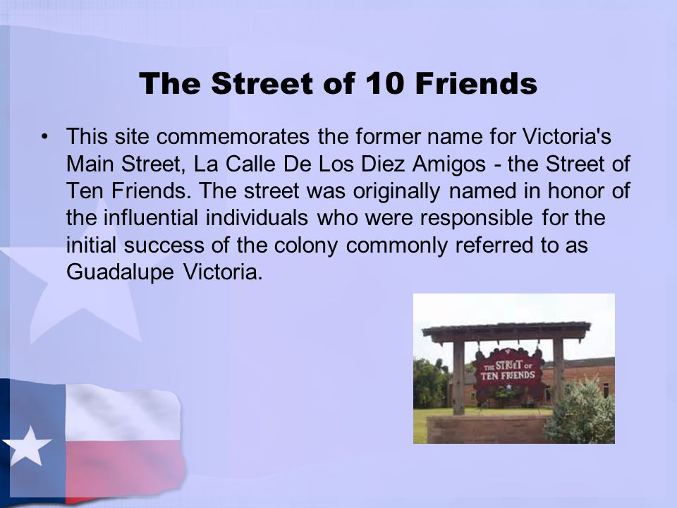The Street of 10 Friends