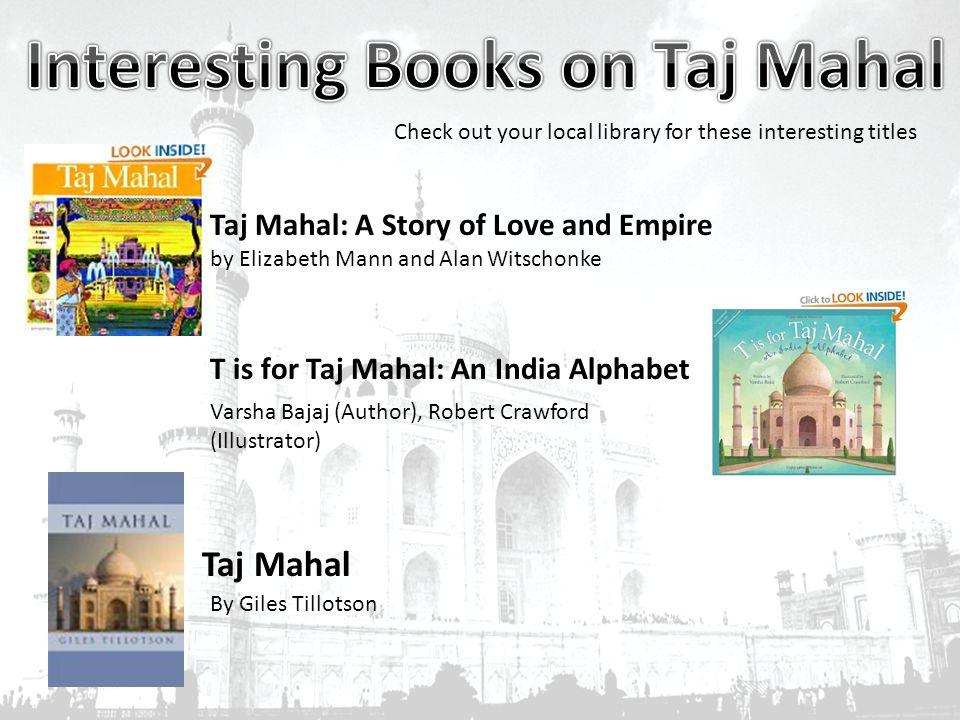 Interesting Books on Taj Mahal