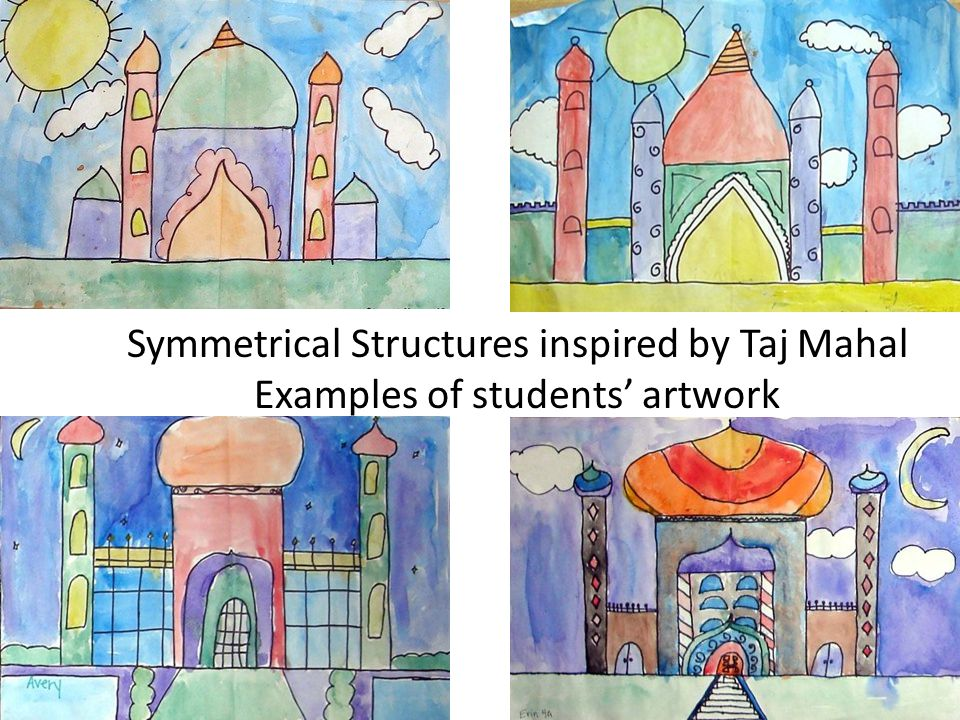 Symmetrical Structures inspired by Taj Mahal