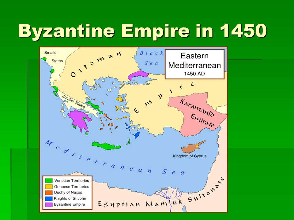 Byzantine Empire in 1450
