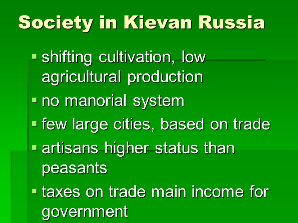 Society in Kievan Russia