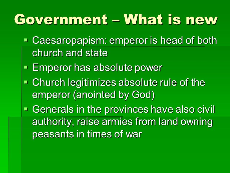 Government – What is new