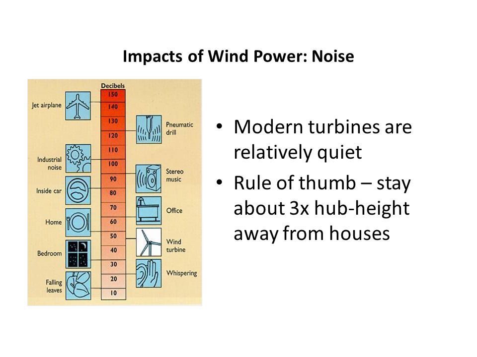 Impacts of Wind Power: Noise