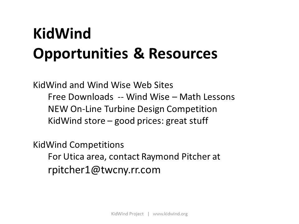 KidWind Project | www.kidwind.org