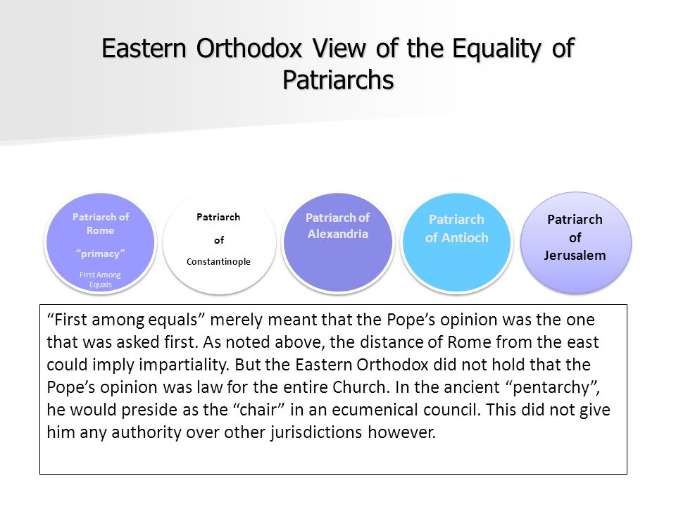 Eastern Orthodox View of the Equality of Patriarchs