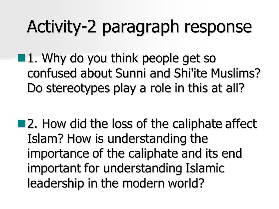 Activity-2 paragraph response