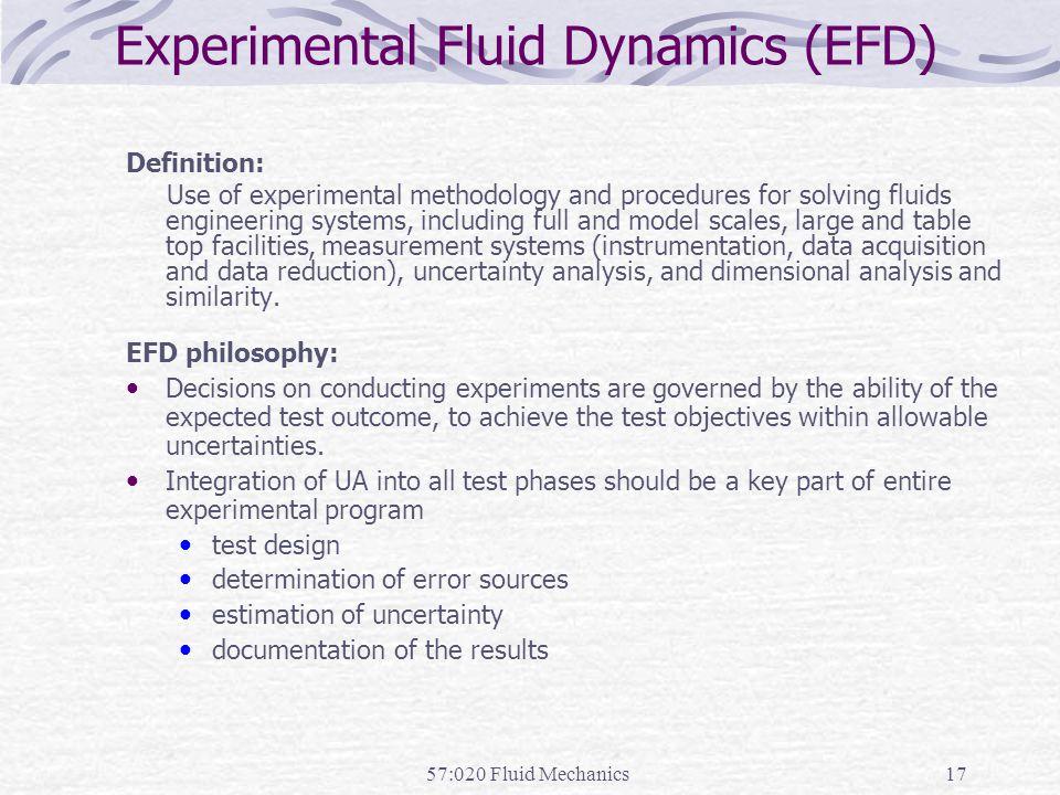Experimental Fluid Dynamics (EFD)