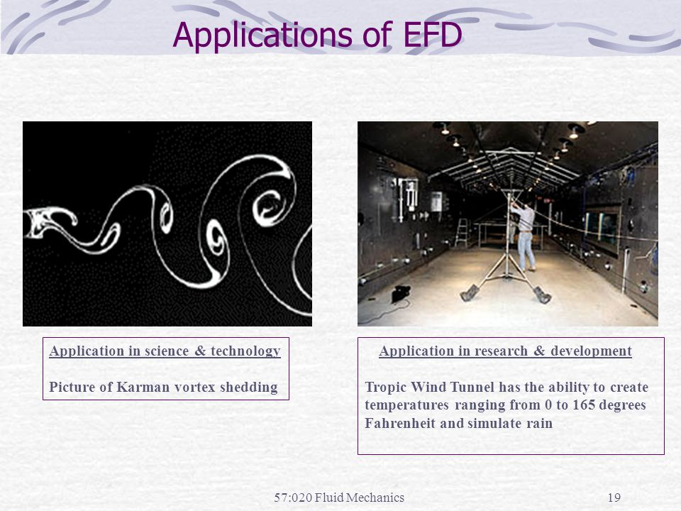 Applications of EFD Application in research & development