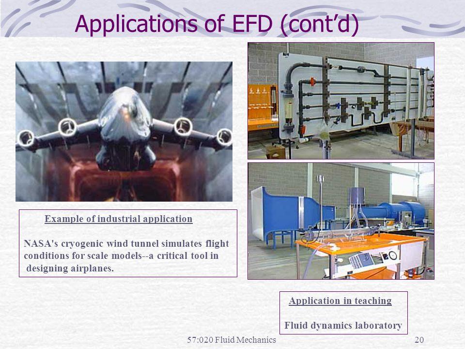 Applications of EFD (cont'd)