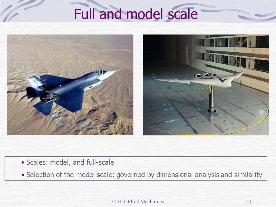 Full and model scale Scales: model, and full-scale